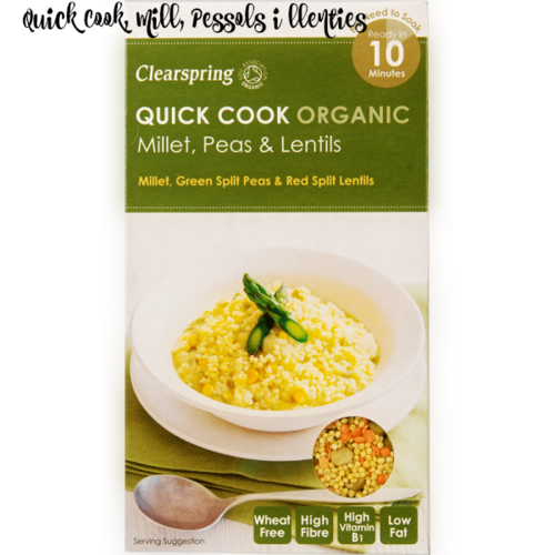 Quick Cook Organic mill, pèsols i llenties